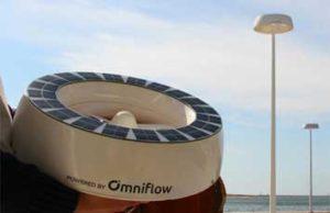 OmEnergia. Omniflow. Alumbrado con turbina de eje vertical